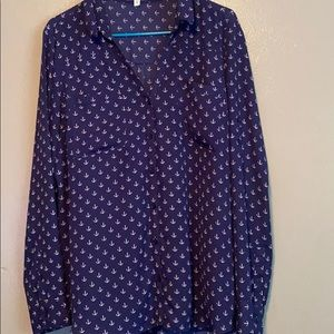 **EXPRESS** long sleeve button down blouse